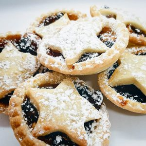 Fruit Mince Tarts - light, buttery pastry with brandy soaked fruit. Delicious warm or cold. 6 tarts $10