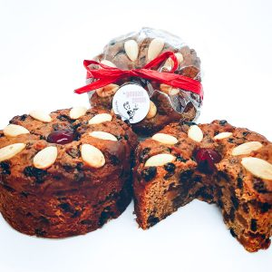 Small Christmas Fruit Cake (350g) - rich and moist with sherry soaked fruit $8