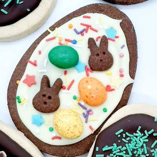 Chocolate Shortbread Easter Biscuits