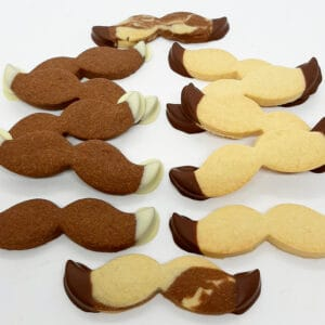 Choc Dipped Shortbread Moustaches Fathers Day Gifts