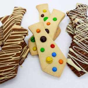 Shortbread Ties - Choc Orange, M&M, Choc Vanilla $3 ea approx 50g